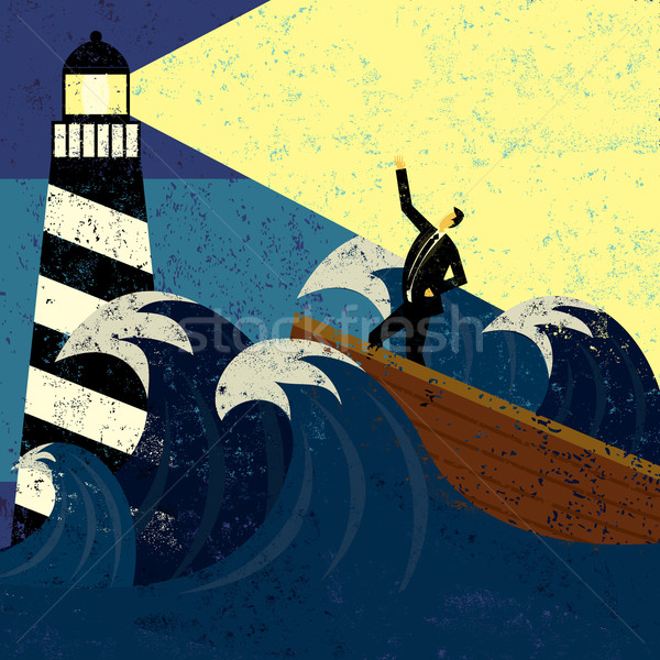 Stock photo: Guidance in Stormy Seas