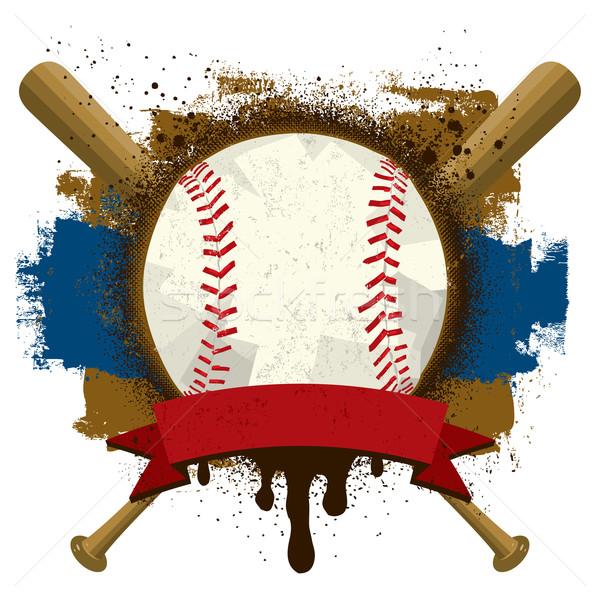 бейсбольной текста баннер спорт краской Сток-фото © retrostar