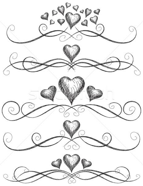 Coração rolar trabalhar corações página Foto stock © retrostar