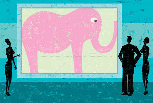 Ignoring the pink elephant in the room Stock photo © retrostar