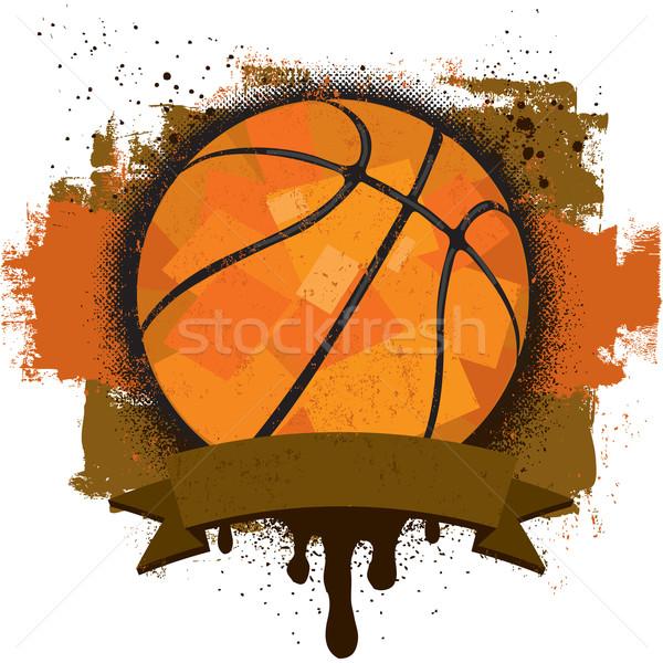 баскетбол текста баннер спорт Сток-фото © retrostar