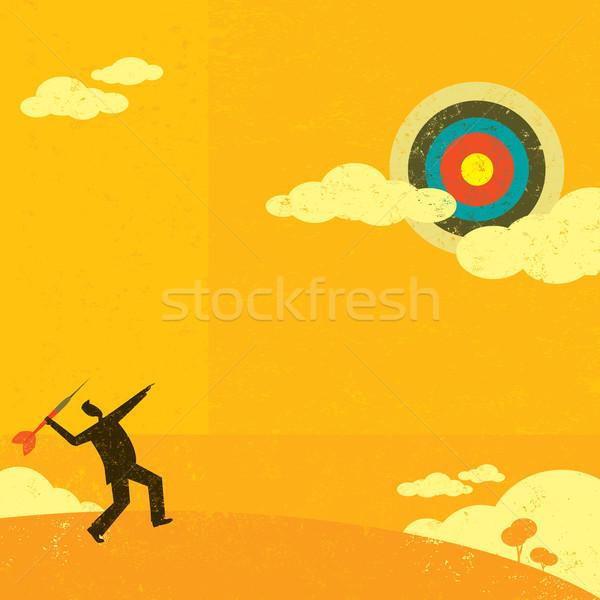 Alto alvo empresário grande dardo negócio Foto stock © retrostar