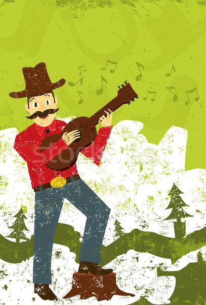 País música cantante occidental felizmente cantando Foto stock © retrostar