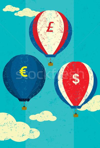 валюта горячей воздуха шаров различный Сток-фото © retrostar