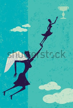 Livre bola cadeia empresária mulher separadamente Foto stock © retrostar