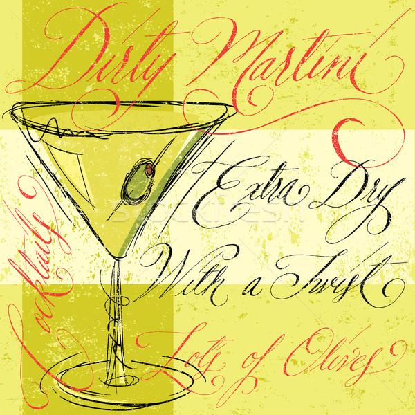 Dirty Martini Stock photo © retrostar
