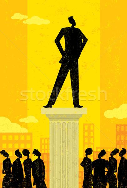 Affaires leader gens d'affaires colonne séparément Photo stock © retrostar