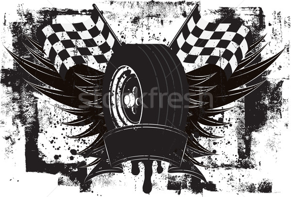 Racing Wings Insignia Stock photo © retrostar