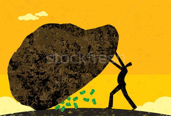Nem kő üzletember talál új jövedelem Stock fotó © retrostar