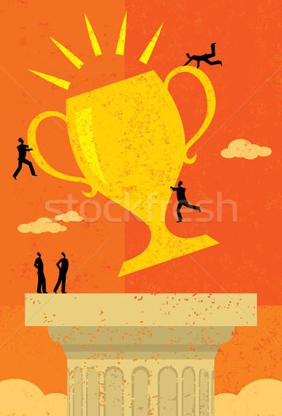 équipe commerciale succès objectif trophée personnes séparé Photo stock © retrostar