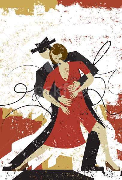 Tango amantes casal dança abstrato homem Foto stock © retrostar