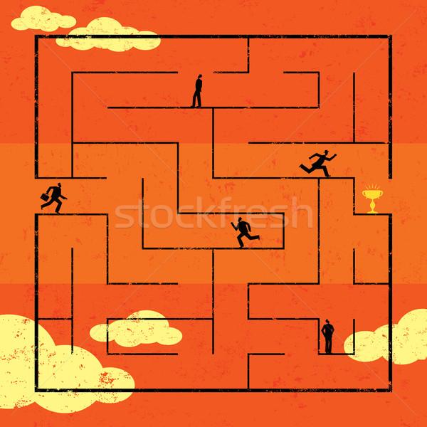 Navigating Maze to Success Stock photo © retrostar