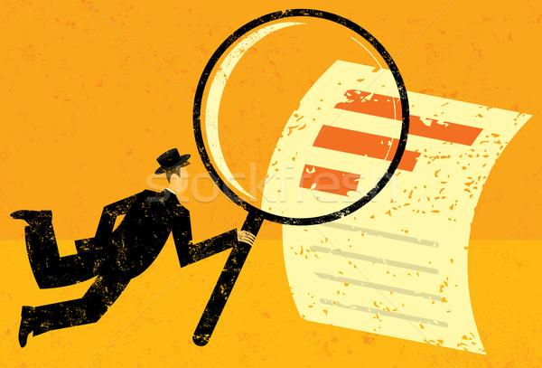 Examining Financial Data Stock photo © retrostar
