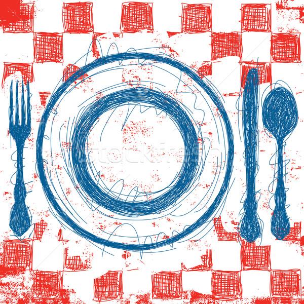 Blue Plate Special Stock photo © retrostar