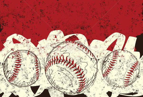 три рисованной спорт фоны эскиз Сток-фото © retrostar