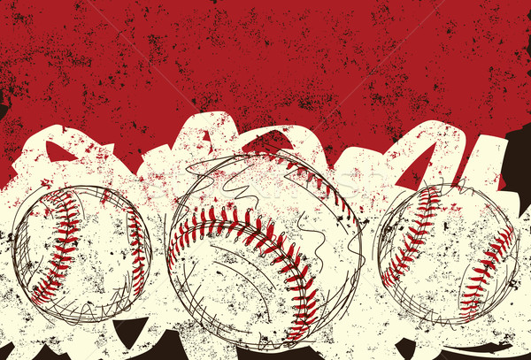 Three baseballs Stock photo © retrostar