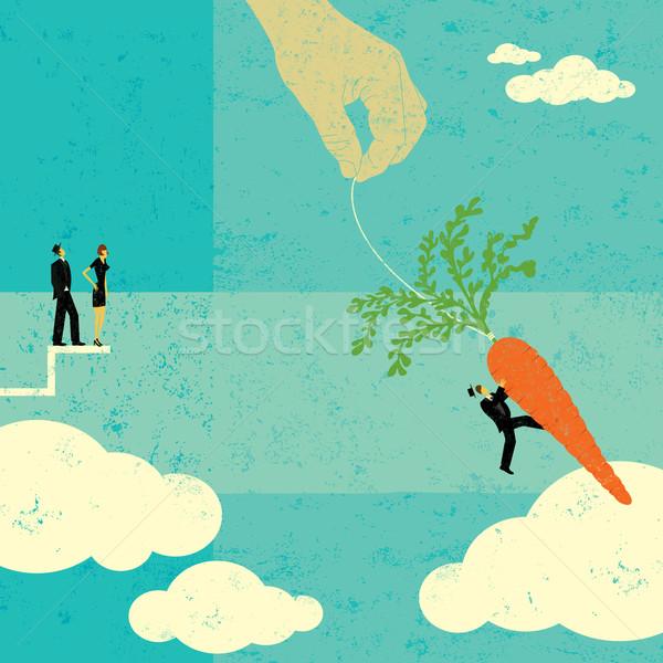 Carotte personnes regarder affaires séparé Photo stock © retrostar