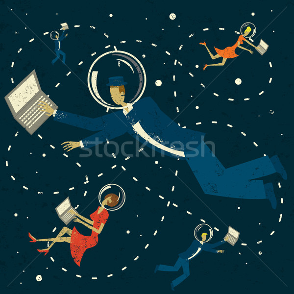 Retro Cyberspace Friends Stock photo © retrostar