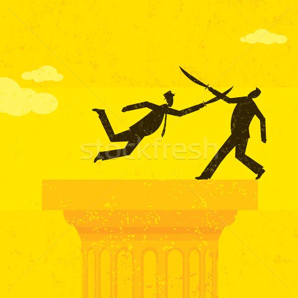 корпоративного битва два ретро бизнесменов Сток-фото © retrostar