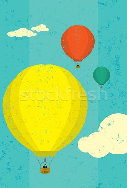 Chaud air ballons ciel séparément Photo stock © retrostar