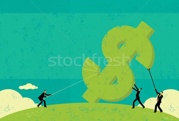 Affaires up hommes séparé argent Photo stock © retrostar