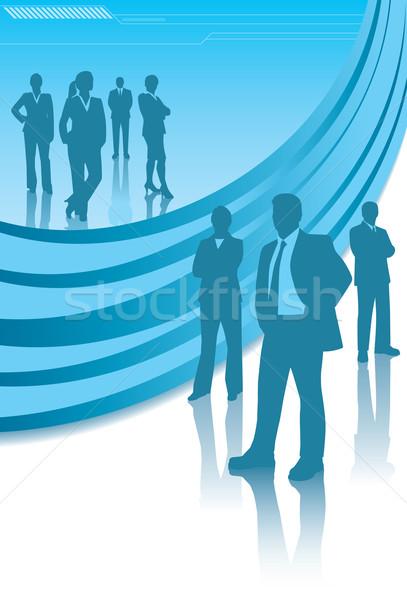 Corporativo equipes silhueta moderno projeto elementos Foto stock © retrostar
