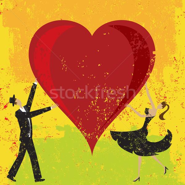 человека женщину сердце большой аннотация Сток-фото © retrostar