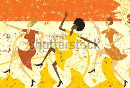 Swing Dancers Stock photo © retrostar