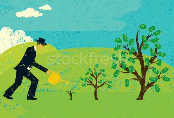 Growing Money Trees Stock photo © retrostar