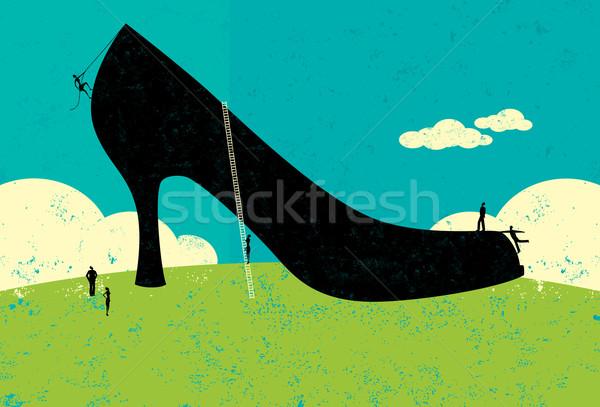 большой обувь деловые люди Рисунок из большой Сток-фото © retrostar