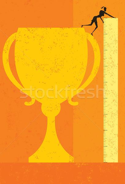 Measuring success Stock photo © retrostar
