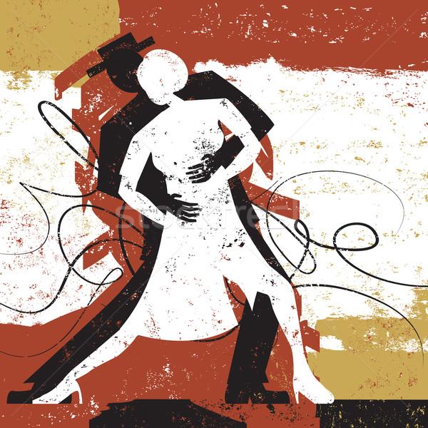 Tango amoureux couple danse résumé homme Photo stock © retrostar