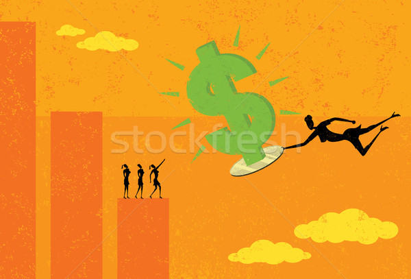 Profits on a Silver Platter Stock photo © retrostar