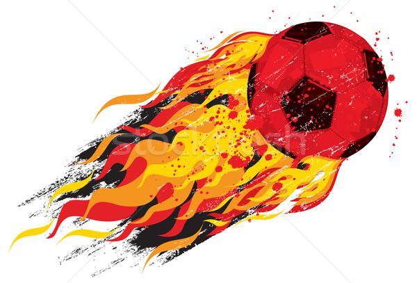 Stock photo: Flaming soccerball