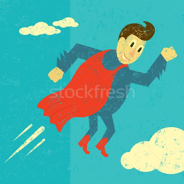 Retro abstrato céu homem Foto stock © retrostar