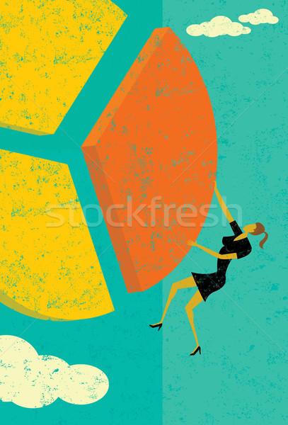 Empresária fatia mulher separado Foto stock © retrostar