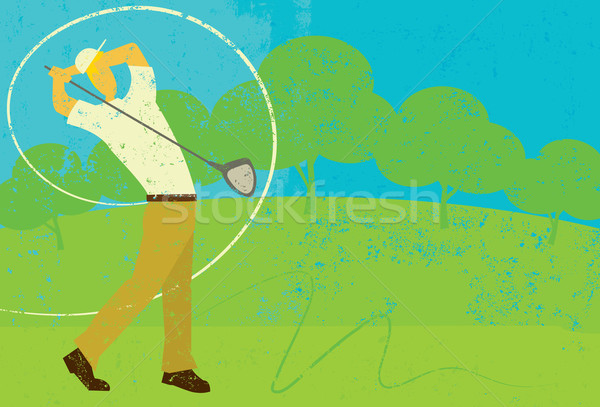 Golfer Swinging Stock photo © retrostar