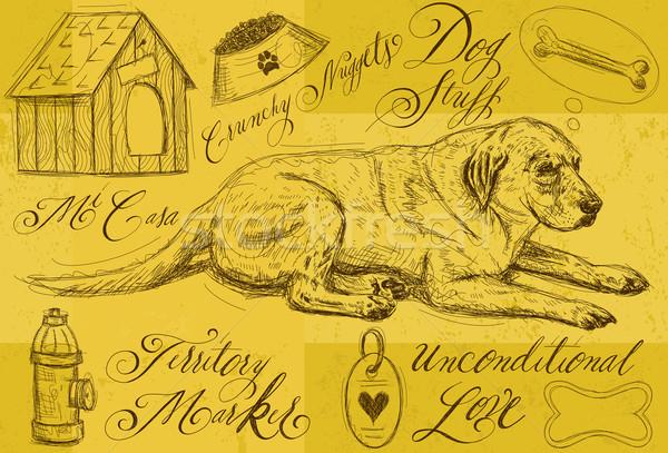 собака мышления кость другой Сток-фото © retrostar