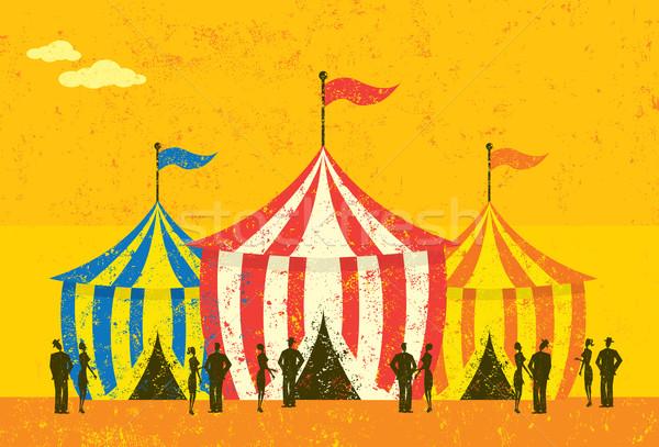 Tente événement personnes cirque séparément fête Photo stock © retrostar