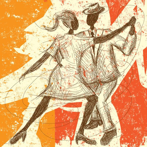Tango casal dança abstrato homem Foto stock © retrostar