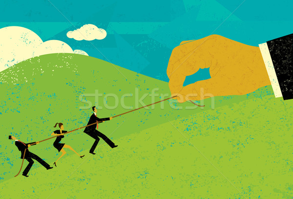 Tug of War with Big Business Stock photo © retrostar