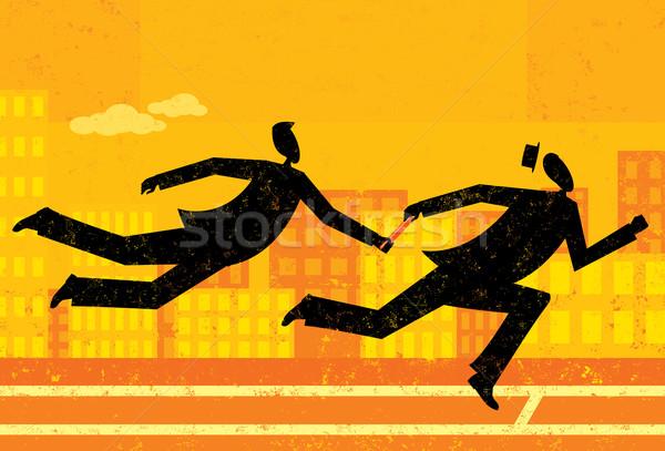 Empresário controlar homens separado camada Foto stock © retrostar