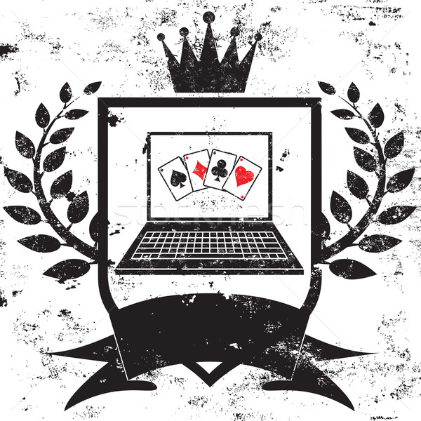 Computer Poker Champion Stock photo © retrostar