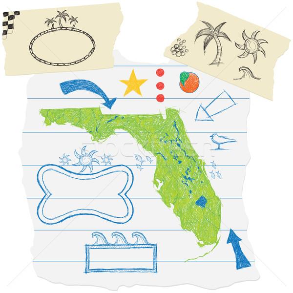 Флорида рисованной другой Torn Сток-фото © retrostar