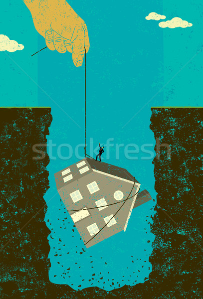 Home mortgage debt bailout Stock photo © retrostar