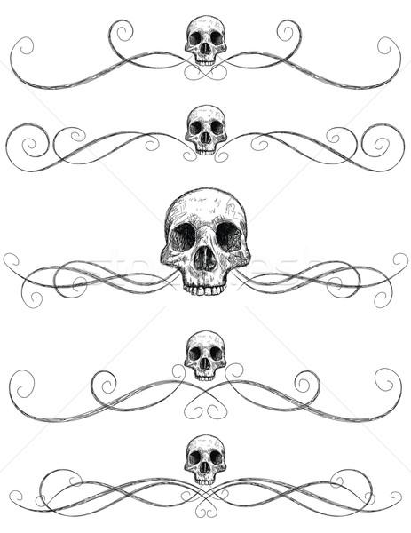 Sketchy skull page rules Stock photo © retrostar