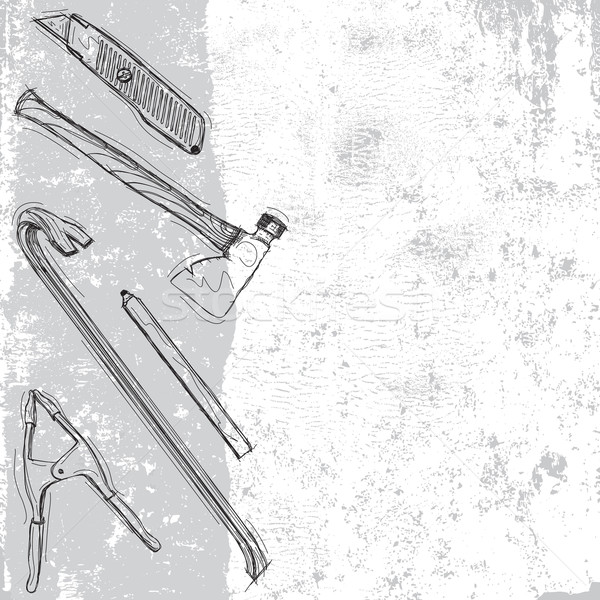 Construction tool background Stock photo © retrostar