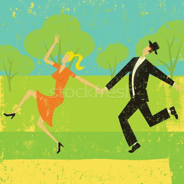 пару танцы аннотация люди отдельный Сток-фото © retrostar