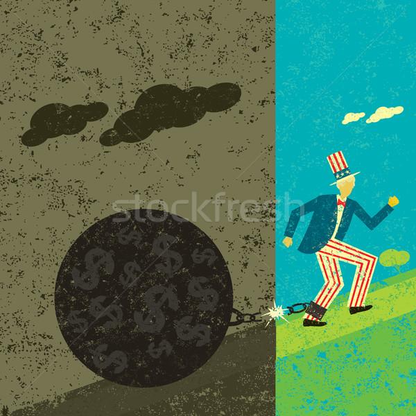 Amérique libre dette avenir homme balle Photo stock © retrostar