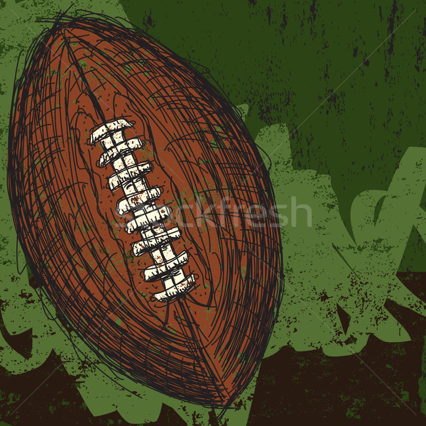 Stock photo: Sketchy football background